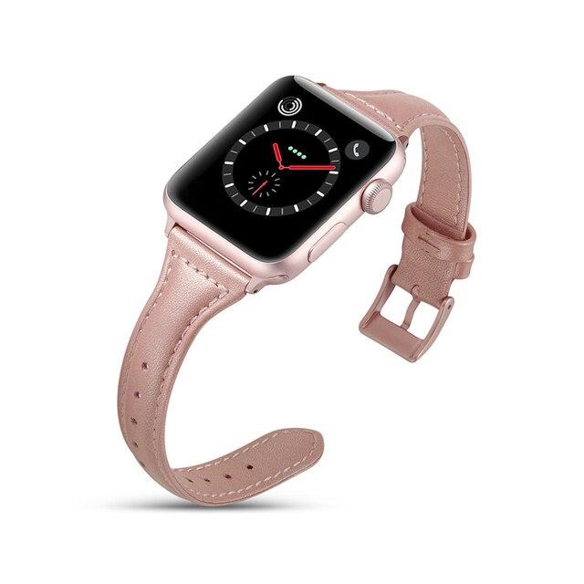 ASHEI новейший тонкий ремешок из натуральной кожи для Apple Watch 4 ремешка 40 мм 44 мм iWatch спортивный браслет для Apple Watch 42 мм 38 мм 2019