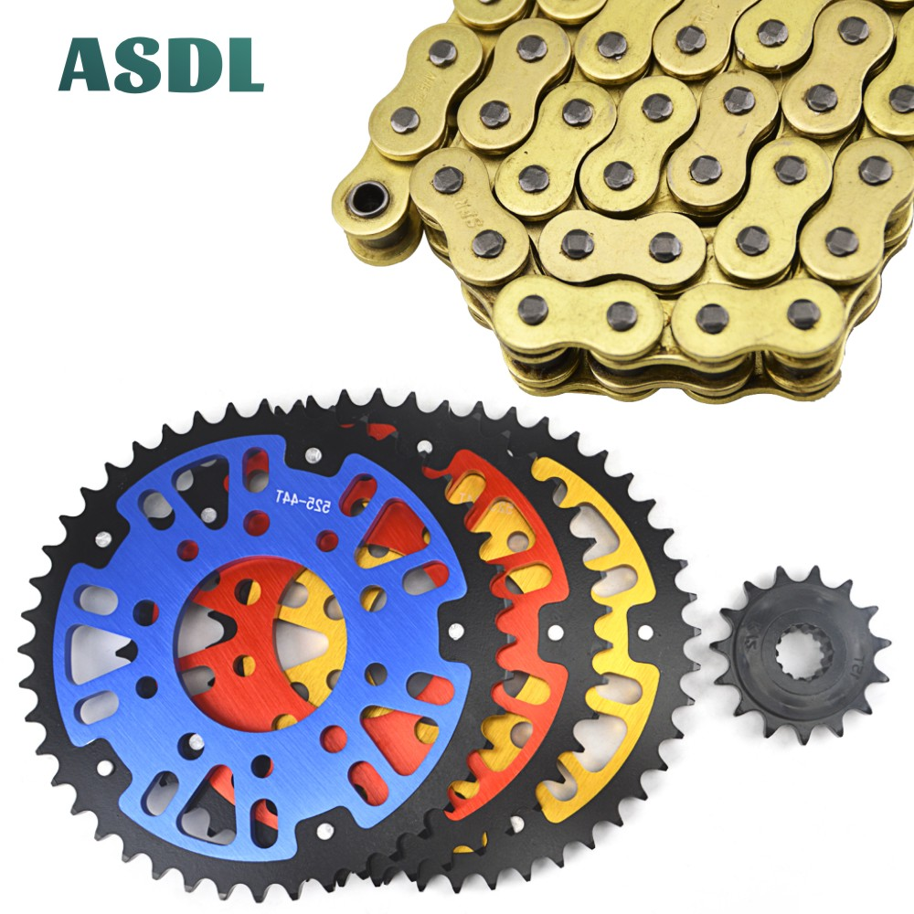 Motorcycle Complete Sets 525 O-Ring Chain Front & Rear Sprocket Kits For HONDA CB400 CB500 CB 1 NC31 NC39 VTEC 14T 44T #c