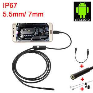 Image 2 - Endoscope USB Android Endoscope Camera Waterproof Inspection Borescope Flexible Camera 5.5mm 7mm for Android PC Notebook 6LED