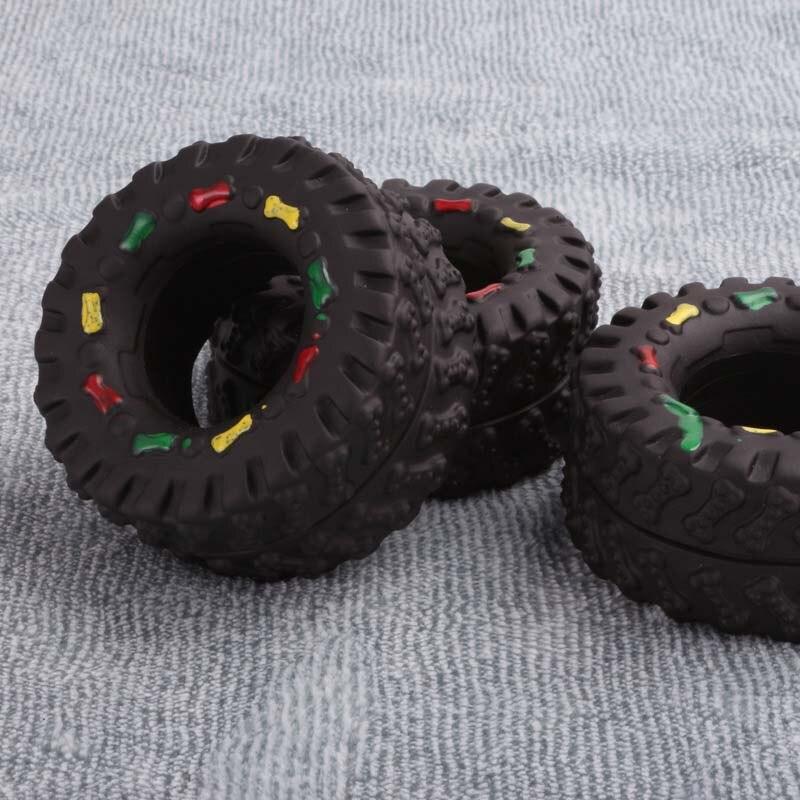 OnnPnnQ Elasticity Tire Dog Cat Toy Squeak Sound Chew Treat Holder Funny Puppy Training molar Toys Dog Interactive Pet Supplies4