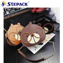 New Arrival Lovely Squirrel Design With Glasses Kawaii Shoulder Bag Crossbody Bag Lovely Handbag Bag Fashion Women Messenger Bag
