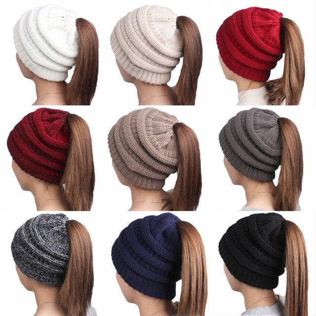ac9c3b79e4951 Women Winter Knitted Wool Cap CC Beanies Hats   Caps Men Casual Unisex  Solid Color Hip-Hop Skullies Beanie Warm Hat