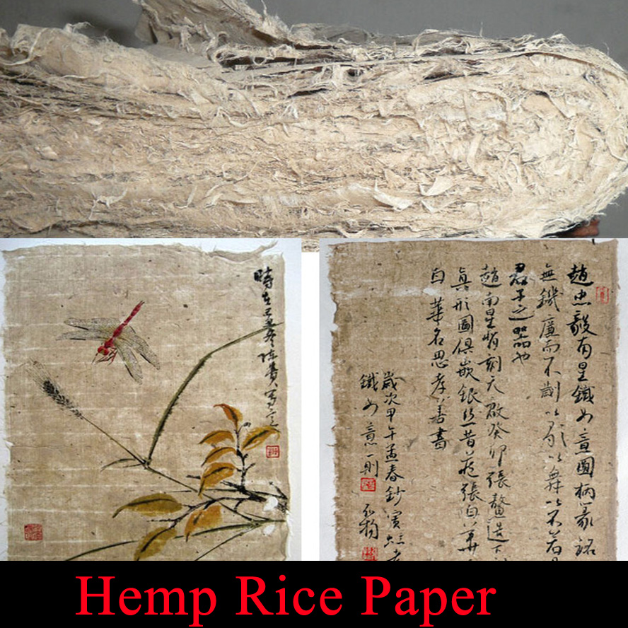 Top Archaistic hemp fiber Rice Paper for Painting Calligraphy Artist xuan paper Mao bian zhi top chinese hemp paper hand made traditional rice paper for painting calligraphy artist supplies
