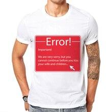 купить 2019 New Program Error Letter Funny Mens T Shirts Cotton Short Sleeves T-shirt Men Fashion Print T shirt Tops Tees Casual Tshirt по цене 631.12 рублей