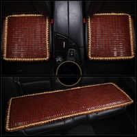 Bamboe 3 Piece Pak Auto Zitkussen Zomer Essentiële Comfortabele Stoelhoezen Non Slip Ontwerp Bed Kussen voor Auto Kantoor