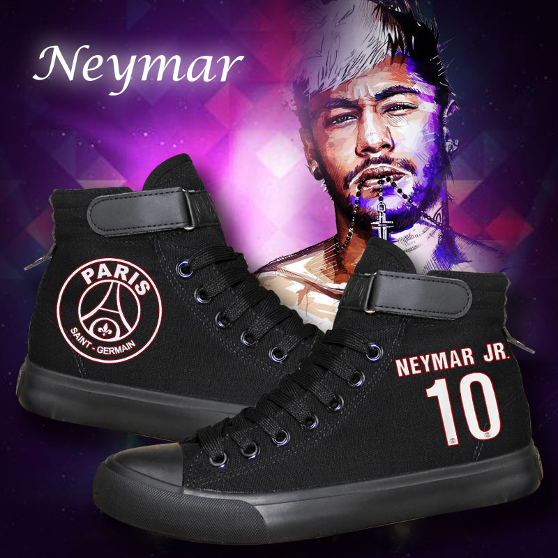 Dependable Hot Sale Neymar Canvas Shoes Flat Student Casual Shoes Gift For Teenagers High Quality Luminous Printing Shoes Waterproof, Shock-Resistant And Antimagnetic