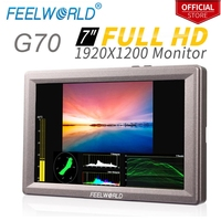 Feelworld G70 7 Inch Full HD Field Monitor With Waveform VectorScope Color Histogram Camera External IPS LCD Monitor