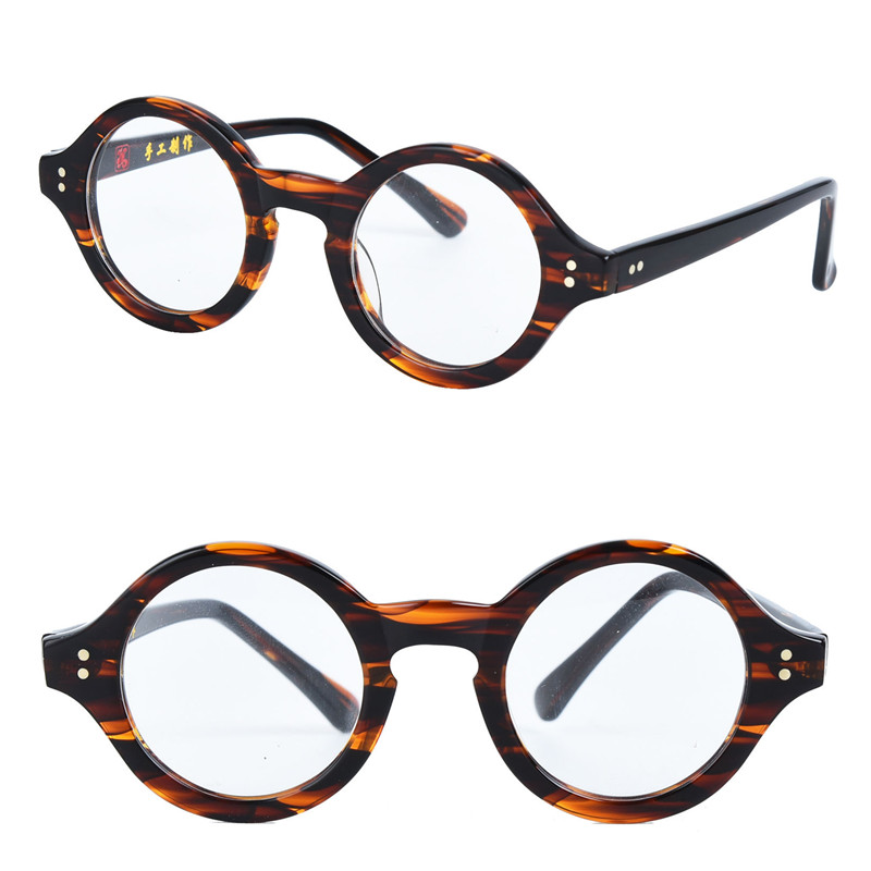 e5d06ae34a Vintage Tortoise Small Round 38mm Johnny Depp Japanese Hand Made Acetate  Eyeglass Frames Myopia Rx able Glasses