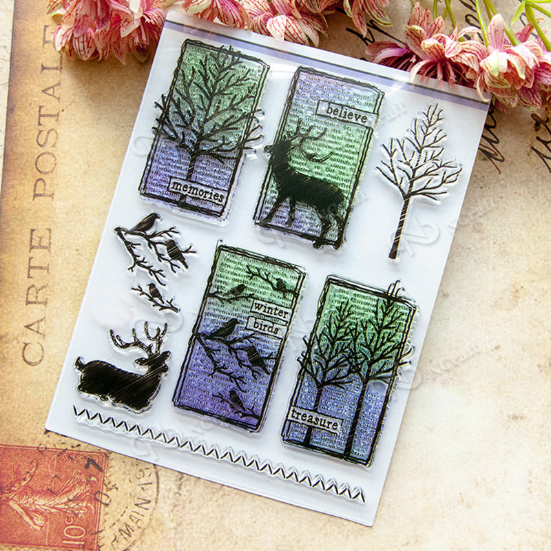 Transparent Clear Stamp DIY Silicone Seals Scrapbooking/Card Making/Photo Album Decoration Supplies 14x18cm T-0197 lovely animals and ballon design transparent clear silicone stamp for diy scrapbooking photo album clear stamp cl 278