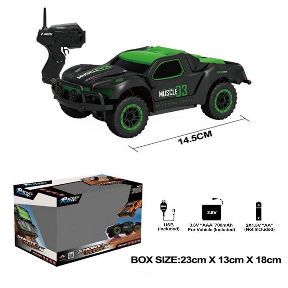 Пульт дистанционного управления автомобиль дистанционного управления игрушка ПВХ цвета электрическая игрушка хобби культивировать интерес Электрический ABS игры великолепные - Цвет: green