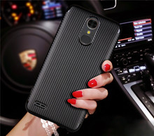 For LG K10 2017 X400 X 400 Case Colored Carbon Fiber Skin Soft Back Cover Phone Case for LG K10 2017 X400 M250N Soft Shell Cover for lg k10 2017 american unicorn pattern soft tpu phone case