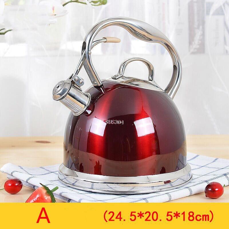 Bouilloire épaisse en acier inoxydable sifflant bouilloire domestique cuisinière à Induction à gaz pour bouilloire 3L
