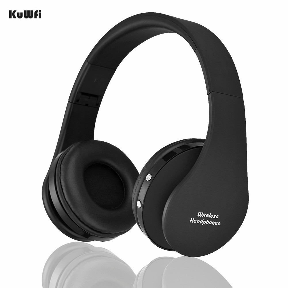 KuWFi Colorful Wireless Bluetooth Headphone Head Set Stereo Audio Earphone For Mobile Phone Music Operation Distance 10M