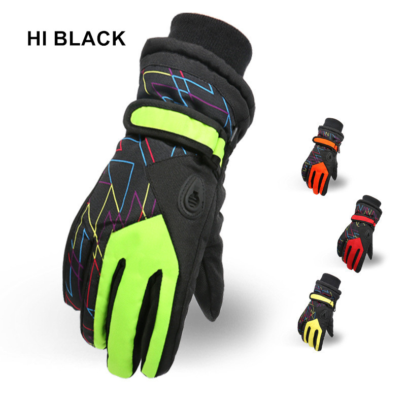 Children Winter Snowmobile Ski Gloves Kids Girls Waterproof Skiing Snowboarding Gloves Windproof Lovely Boy And Girls Gloves