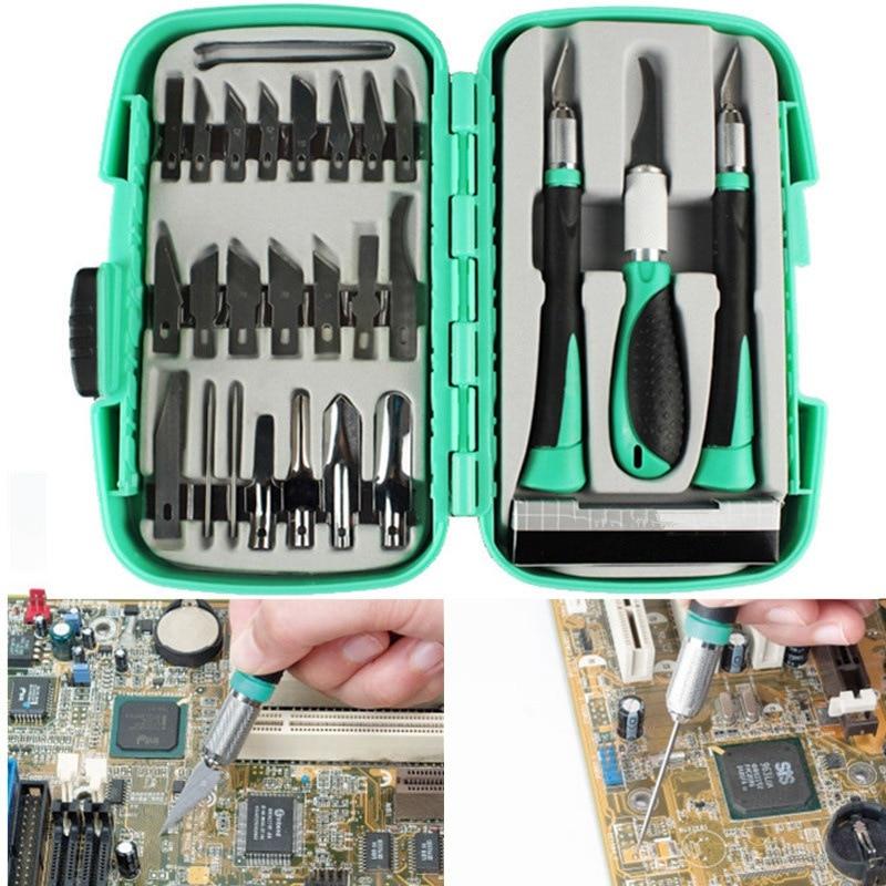 New Arrival 30pcs/1Set K5 Steel Wood Carving Hand Chisel Engraving Woodworking Carpenter Tool Set Graver Pen Knife DIY Tools goa
