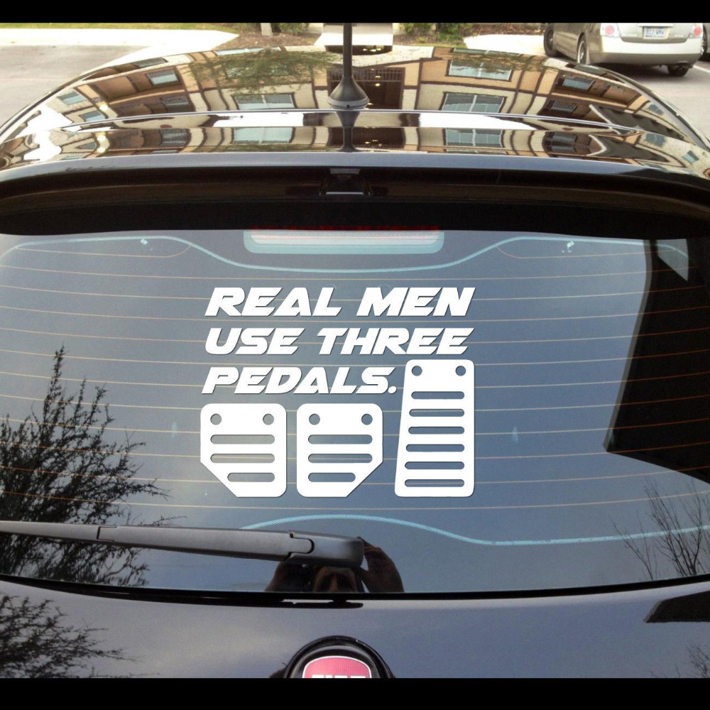 Real men use three pedals sticker decal drift stance illest hoonigan illmotion china mainland