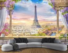 Wallpaper Palace Roman column Eiffel Tower Wallpaper For Walls 3 d Wallpapers For Living room Background Wall(China)