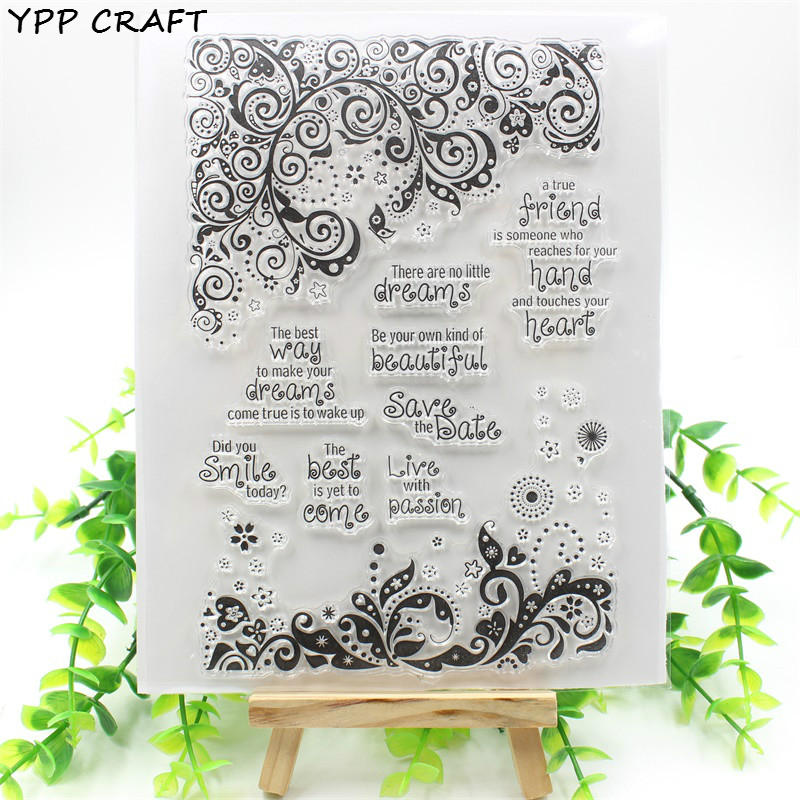 YPP CRAFT Live With Passion Transparent Clear Silicone Stamp/Seal for DIY scrapbooking/photo album Decorative clear stamp sheets tvxq special live tour t1st0ry in seoul kpop album