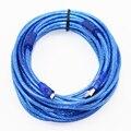 10 м 33ft Micro USB 2.0 Кабель для Передачи Данных USB Type A, чтобы Мирко USB 2.0 Мужской Двойной Защиты (Фольга + плетеные внутри) прозрачный Синий