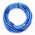 10m 33ft Micro USB 2.0 Data Cable USB Type A to Mirco USB 2.0 Male  Dual Shielding(Foil+Braided inside) Transparent Blue