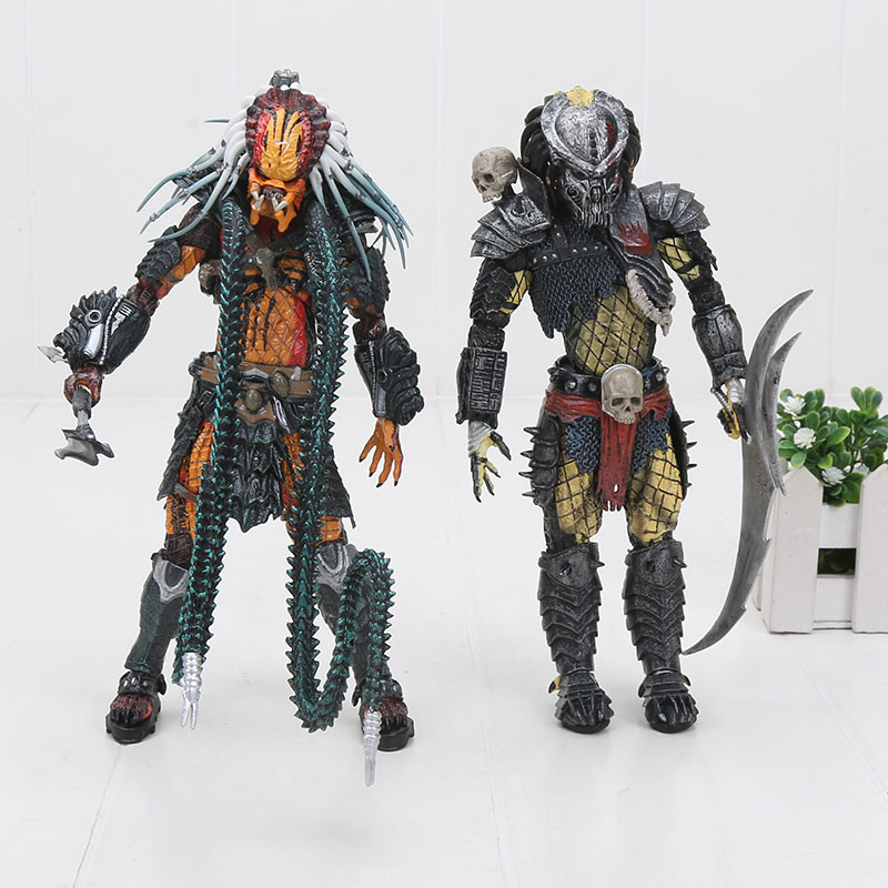 NECA Aliens PREDATOR Giungla di Cemento Incontro di Estrazione Disguise Olandese Jungle Hunter Smascherato Demone Action Figure 18 centimetri