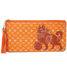 Feng Shui Lucky Fu Dog Wallet (BROWN) (thin)(China)