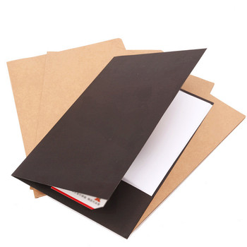 20pcs Special Kraft Folder Single A4/a5 File Set Paper Capa-citor Presentation Contract Mix To Work In An Office Logo Customized
