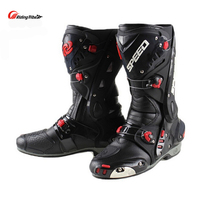 Upgrade Motorcycle anti collision Boot Racing Can Adjust Opening Boots Professional Riding Non slip Mircrofiber Leather boats