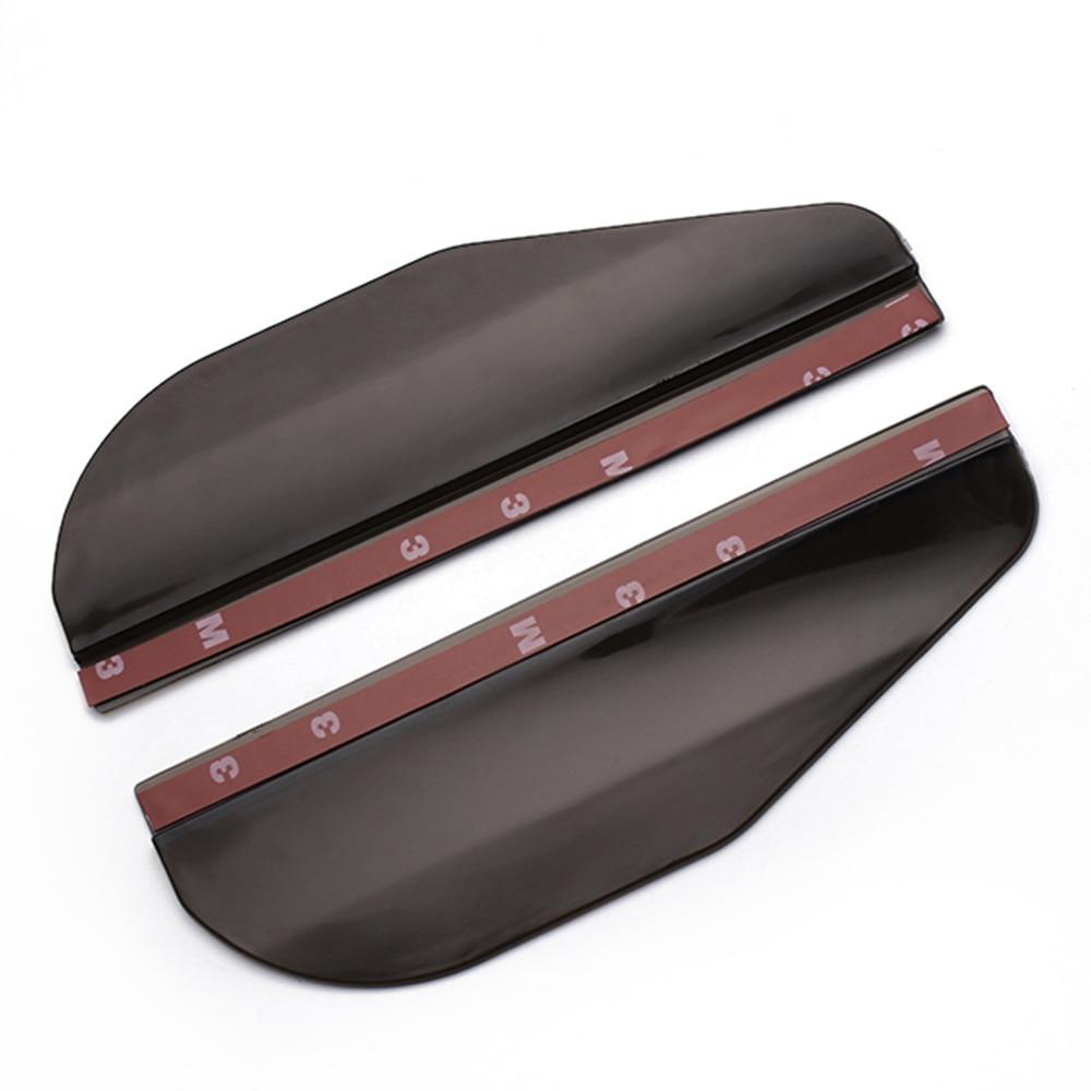 2pcs universal flexible car rearview mirror rain shade for Pvc car