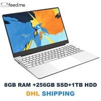15.6 inch Laptop 8GB RAM Laptop 128GB/256GB/512GB SSD Intel Celeron J3455 1080P FHD display Windows 10 PRO Full Layout Keyboard