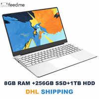 15.6 pouces ordinateur portable 8GB RAM ordinateur portable 128 GB/256 GB/512 GB SSD Intel Celeron J3455 1080P écran FHD Windows 10 PRO clavier complet