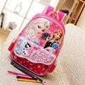 Bolsos de escuela para niños niñas de dibujos animados elsa anna niños mochila mochila infantil de Dibujos Animados Mochila de Primer grado y Guardería