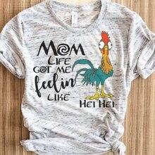 купить Summer Short Sleeve Tops Punk T Shirt Girls Print T-shirt Female Mama Bear Tees Woman по цене 423.82 рублей
