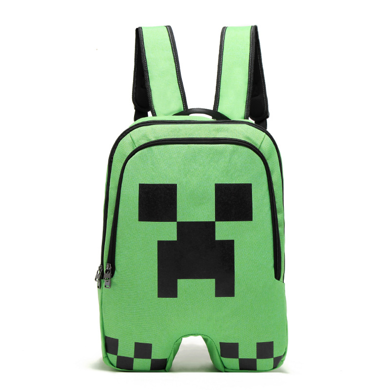 Hign Quality Minecraft Backpack Canvas Zipper Creeper Travel Leisure Bag Bts Back To School Vance Sac A Dos Backpacks