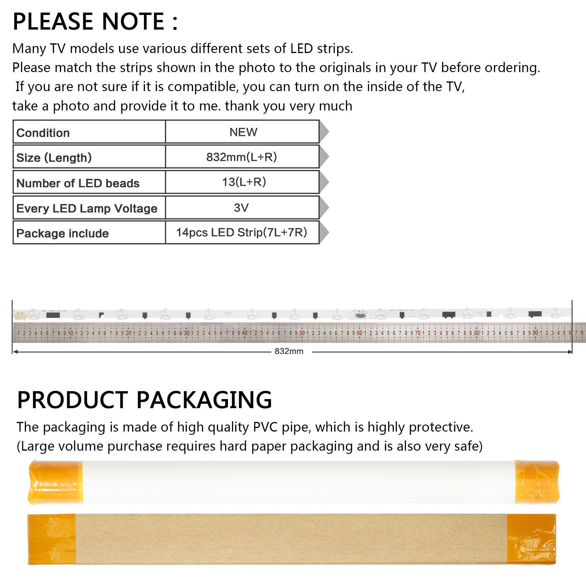 """Lampu Latar LED 13 Lampu untuk Samsung 40 """"TV D2GE-400SCA-R3 UA40F5500 2013SVS40F UE40F6400 D2GE-400SCB-R3 UE40F5000 UE40F5700"""