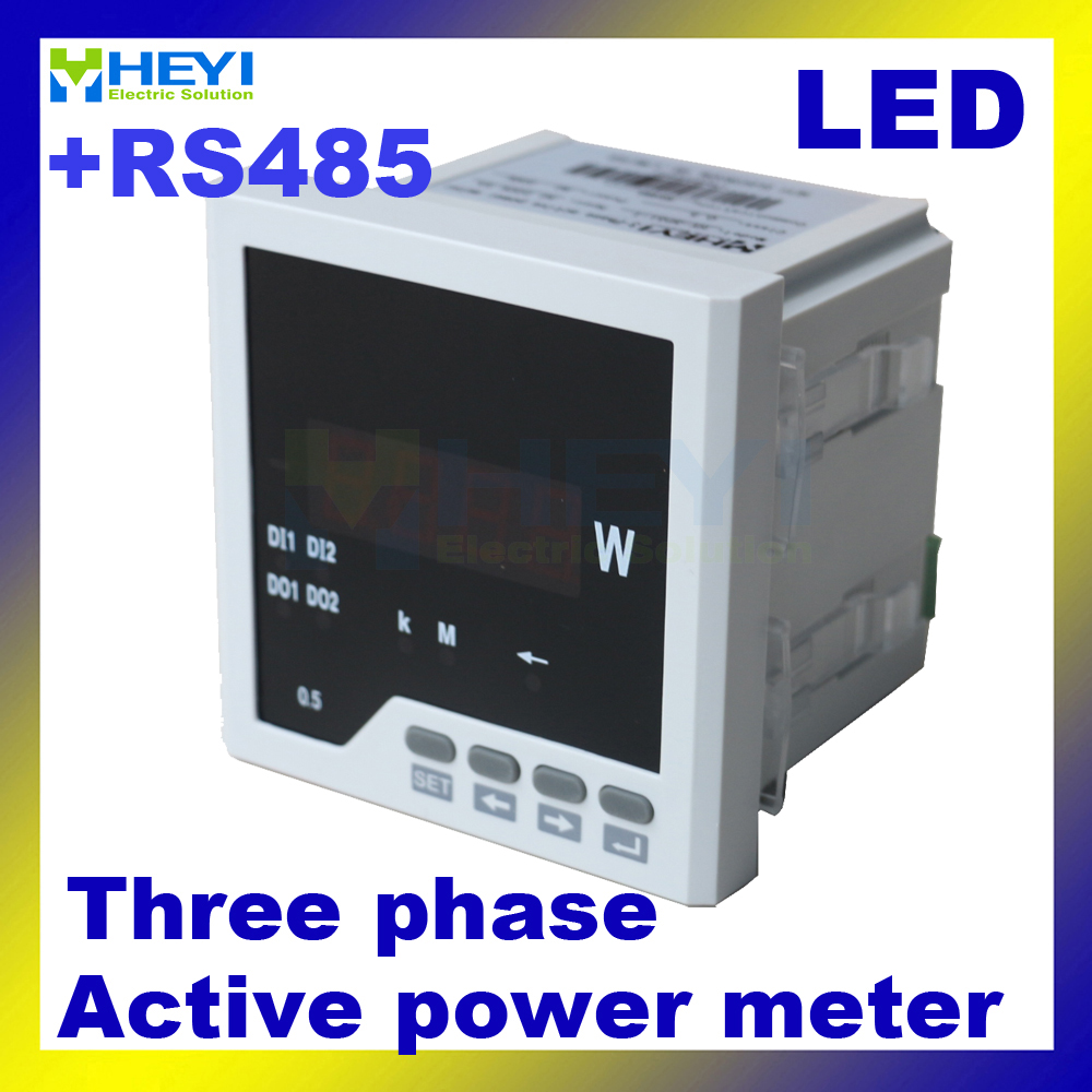 3 phase digital active power meter 120*120/96*96/72*72/80*80 mm Class 0.5 LED panel meter with RS485 communication