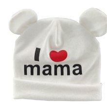 Bnaturalwell Doux J aime Mama Beenies Bébé Coton Chapeau Bas Âge mignon  Beanie Skullcap Hiver 62fe1322eb9