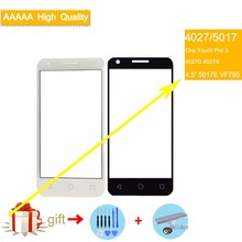4.5 For Alcatel One Touch Pixi 3 4027D 4027X 5017 5017E VF795 OT4027 4027 Smart Speed 6 Front Outer Glass Screen Panel
