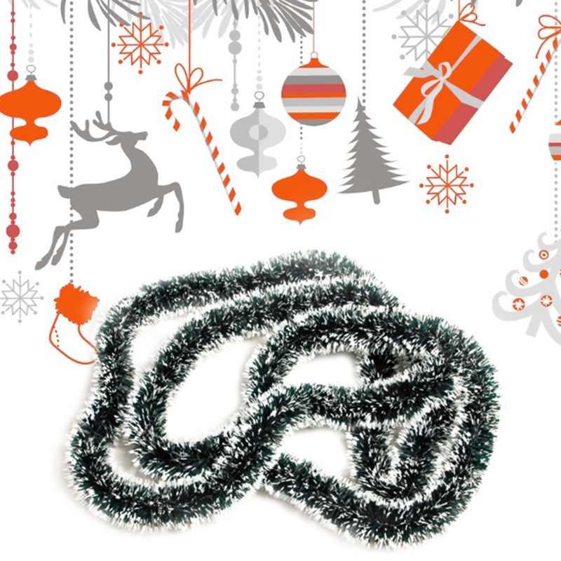 9 نمط لون عيد الميلاد الديكور بار القمم الشريط جارلاند شجرة عيد الميلاد الحلي الأبيض الأخضر الداكن قصب بهرج لوازم الحفلات