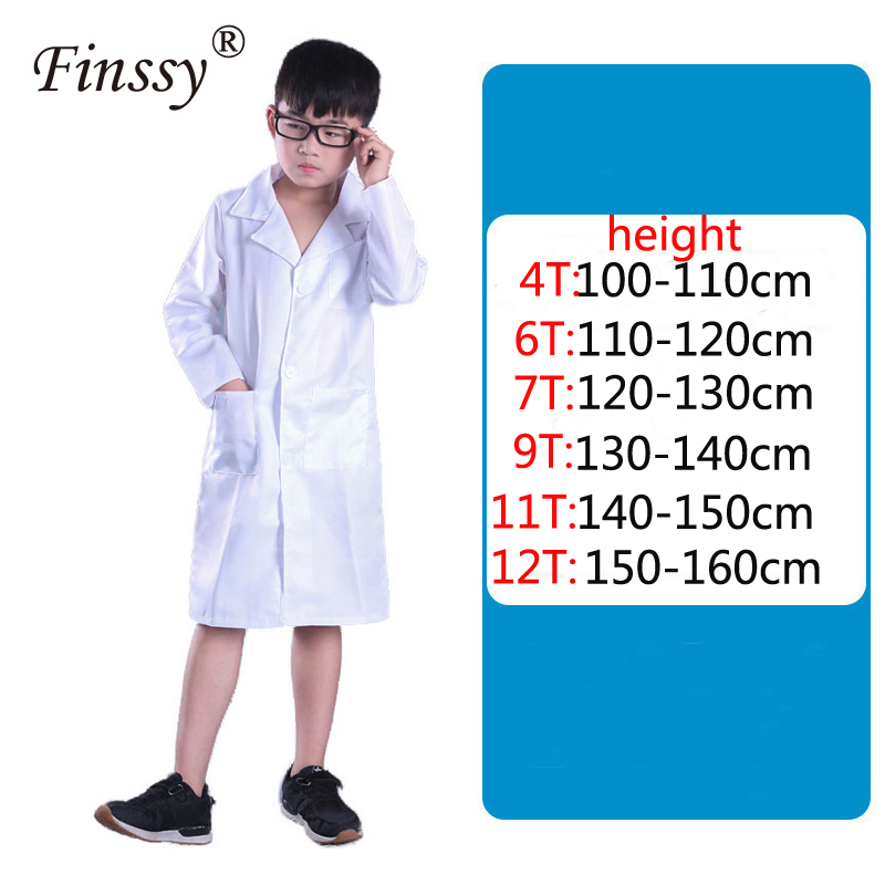 Children Cosplay Science Lab White Protective Clothing Experimental Class Special Uniform Cosplay Doctor Costume For Kids