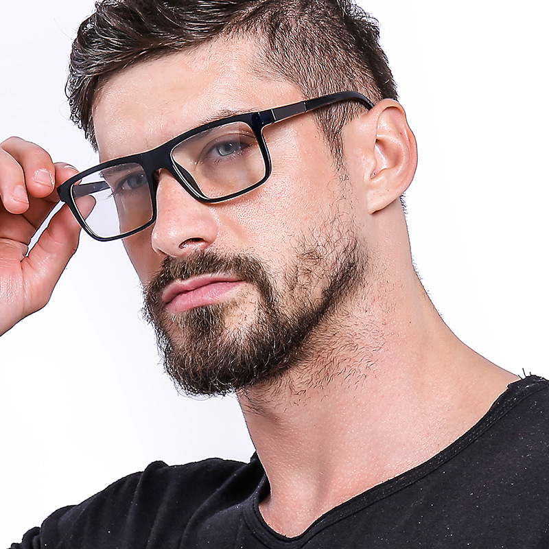 Cubojue TR90 <font><b>Prescription</b></font> <font><b>Men</b></font> <font><b>Glasses</b></font> Man Spectacles <font><b>Progressive</b></font> Multifocal Photochromic Anti Blue Anti Scratch UV400 image