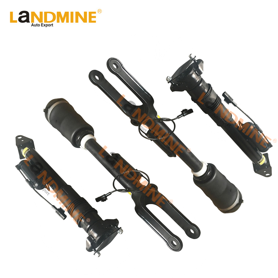 Free Shipping 4pcs Front Shock Abosrber Rear Air Spring With Sensor Fit Mercedes X164 W164 ML GL 1643204613 1643200625