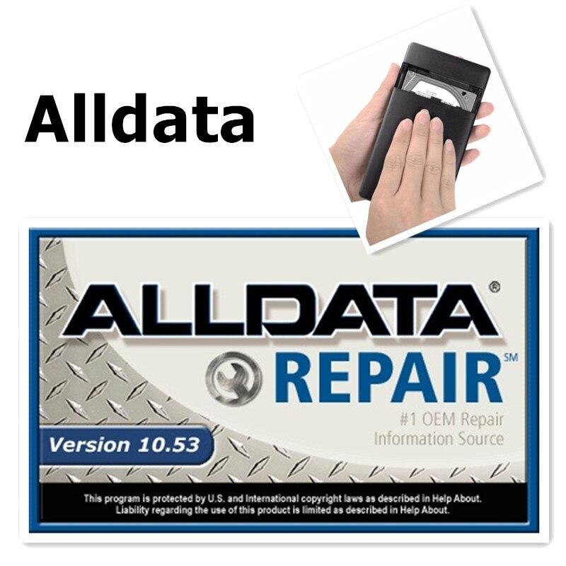 2018 Топ автосервис Alldata программного обеспечения V10.53 + Митчелл по требованию 5 программное обеспечение 2015 3.0usb жесткий диск яркие все данные Б...