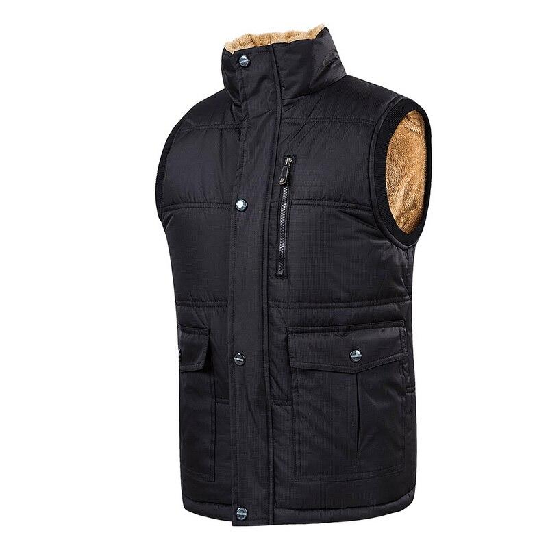 Vests & Waistcoats Dedicated Plus Size 4xl-8xl Cotton Thick Vest Winter Autumn Male Casual Warm Parka Varsity Padded Sleeveless Jacket Mens Baggy Waistcoat Men's Clothing