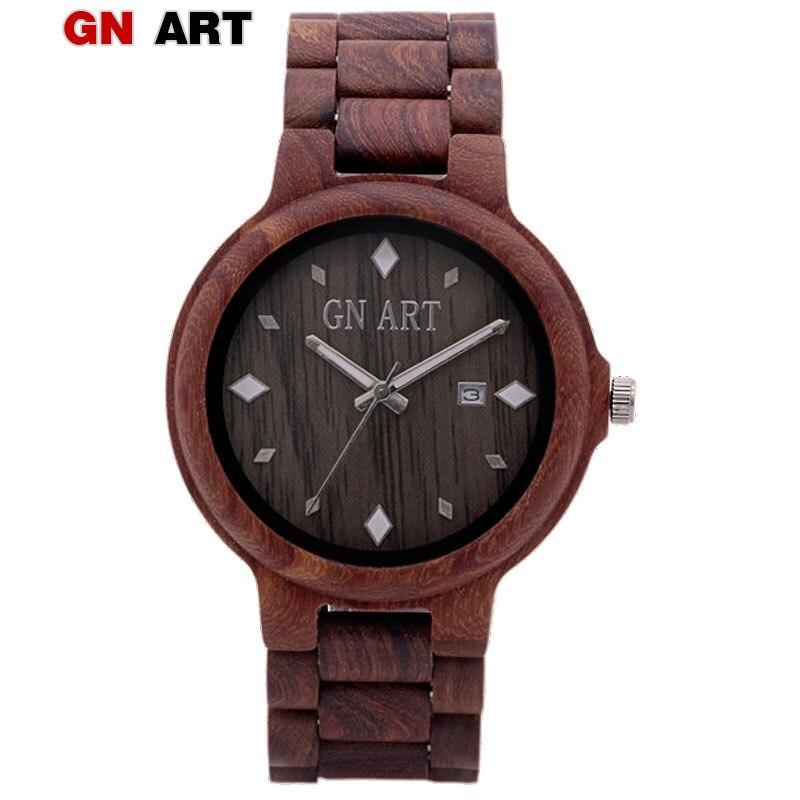 019 WoodWatch Men Luxury Brand Sandal Wooden Mens Relogio Masculino Quartz Watches Fashion Natural RundeVintage