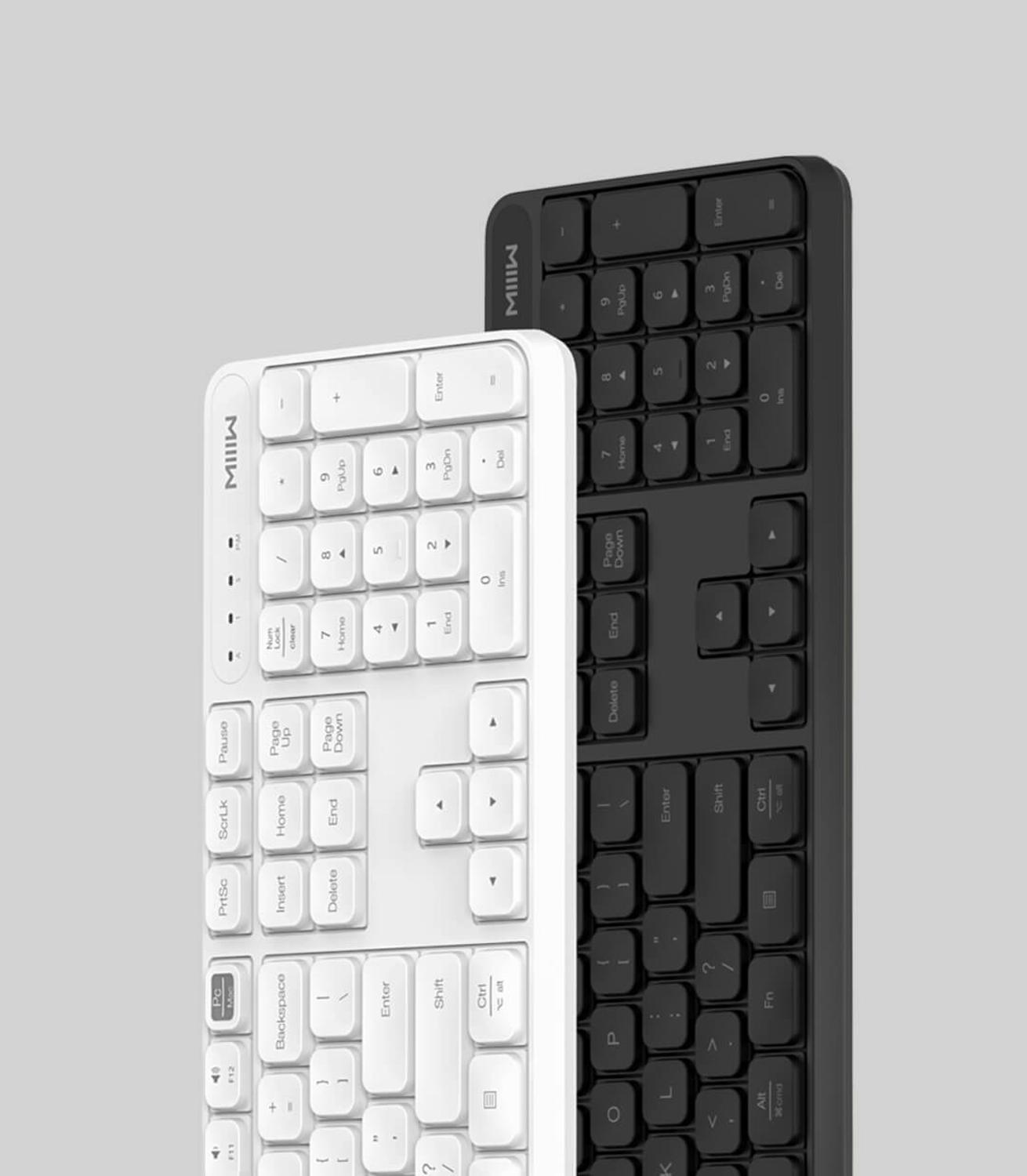 Image 3 - Original Xiaomi MIIIW RF 2.4GHz Wireless Office Keyboard Mouse Set 104 Keys Compatible Portable USB Keyboard For Windows PC Mac-in Keyboards from Computer & Office