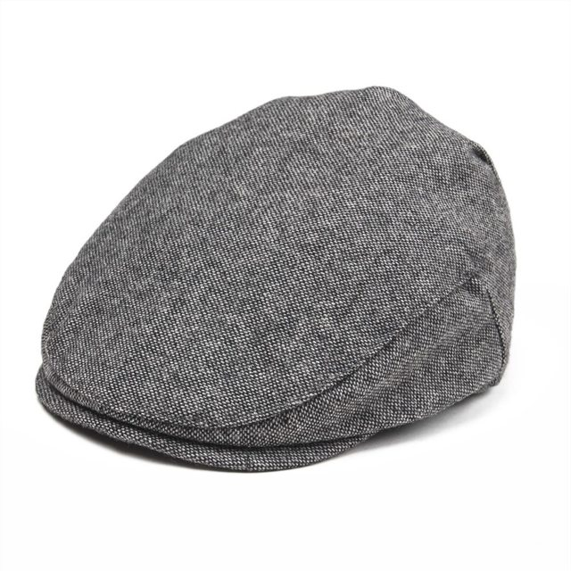 JANGOUL Small Size Kids Woollen Tweed Flat Cap Herringbone Boy Girl Newsboy  Caps Infant Toddler Child Youth Beret Hat Gray 002 86aa411f001