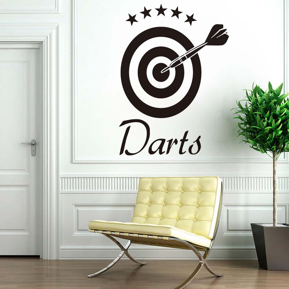 DCTOP Darts Wall Decal Home Sticker Target Sports Removable Vinyl Wall Stickers For children Living Room Decor Poster Decals