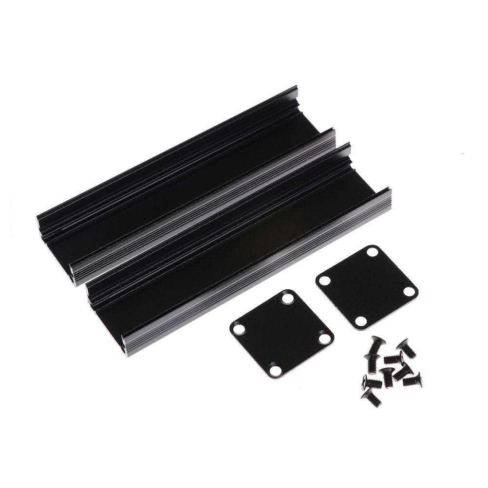 1Set Black Extruded Aluminum Case Enclosure font b Electronic b font Project Case for PCB Extruded