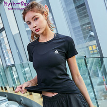 Women Yoga Shirt Short Sleeve T-shirts Duick Dry Elastic Slim Fitness Tee Tops Running Sport Shirt Breathable Gym Workout Blouse jeansian men s sport tee shirt tshirt t shirt tops gym fitness running workout football short sleeve dry fit lsl131 gray